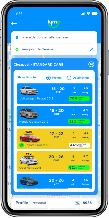 Lymo is a marketplace for independent Taxi / PHV drivers and riders.
